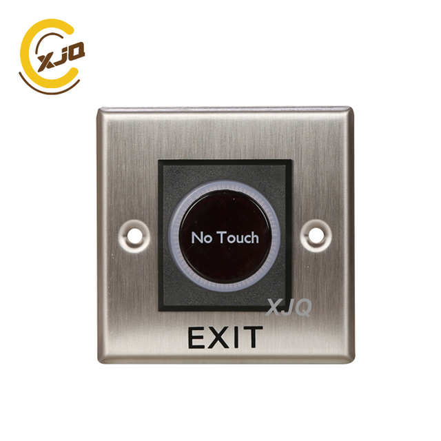 XJQ NO Touch Exit Button Stainless Steel infrared sensor door push button access control exit switch  GB-808B