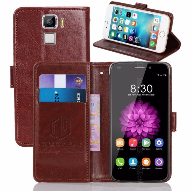 GUCOON Vintage Wallet Case for Oukitel U10 5.5inch PU Leather Retro Flip Cover Magnetic Fashion Cases Kickstand Strap