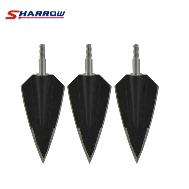 6Pcs Archery Arrowheads Broadheads Arrowheads Hunting Tips Screw Arrow Points Steel 2 Fixed Blade Outdoor Shooting Accessories