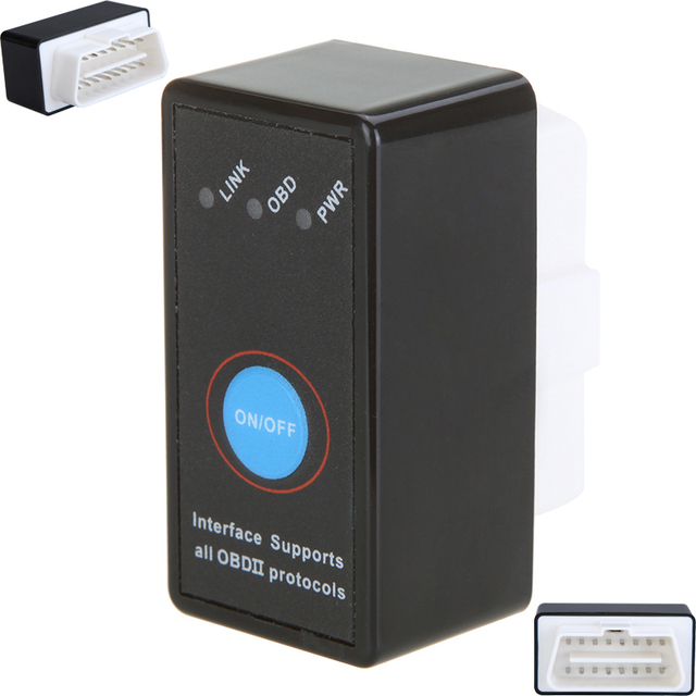 Mini Bluetooth ELM327 OBD2 Interface CAN-BUS Diagnostic Car Scanner Tool+ Switch Bicycle Repair Tools