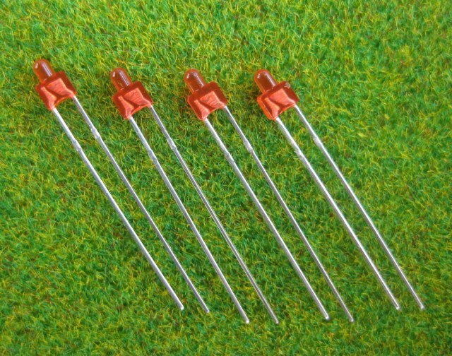 LED19DR Diffused Red Miniatronics 1.8mm Led & Free Resistors