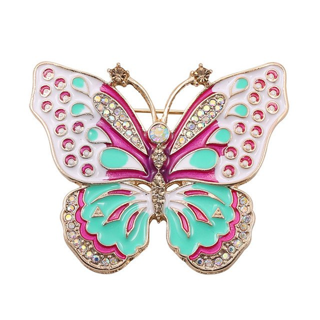 Free shipping Fashion drop glaze enamel set auger butterflies fly on restoring ancient ways is colorful butterfly brooch