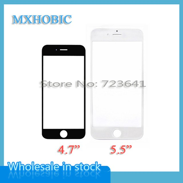 MXHOBIC 10pcs/lot New High Quality Replacement LCD Front Touch Screen Glass Outer Lens for iPhone 6 6G 6S plus Black/White