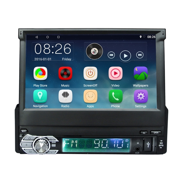 RM - CT0008 mp5 car player mp3 7 inch Android 1 Din Bluetooth GPS Navigation FM Radio 1024*600 Audio Stereo Car video Player