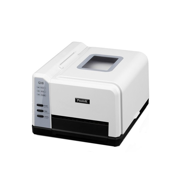 Cheap thermal transfer barcode sticker printer printing jewelry PET hang tag Label with free design software ribbon printer