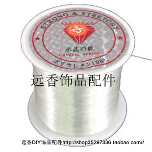 Elastic transparent fishing line diy handmade beaded