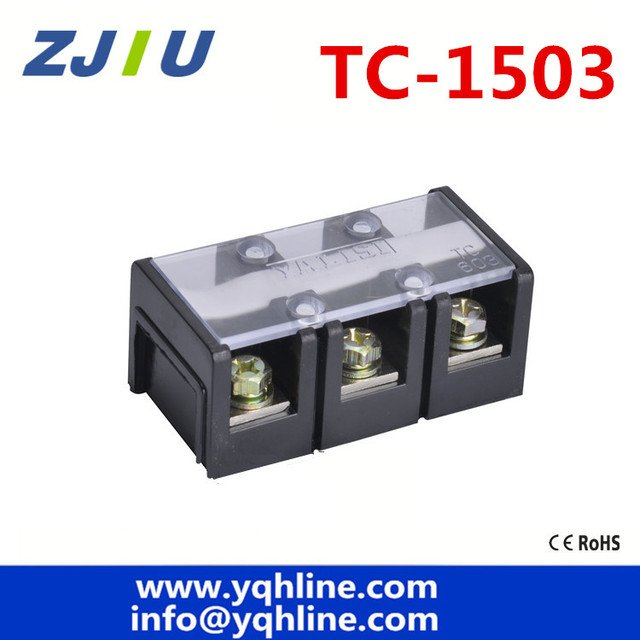 TC-1503  Fixed Terminal Block 600V 150A 3P 3 Positions large current Terminal blocks Universal terminal copper wiring board