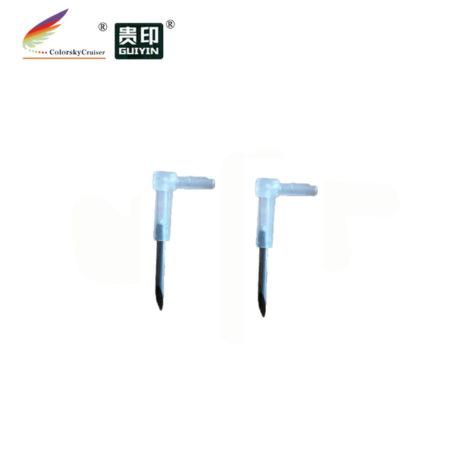 (ACC-40) pipeline arrow elbow connector for CISS with sharp metal needle 100pcs/lot