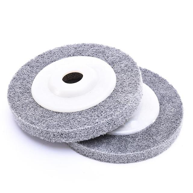 Nylon Grinding Disc 7P 180# Flap Wheel For Metal Finish Wood Polishing On Angle Grinder 100*12*16mm