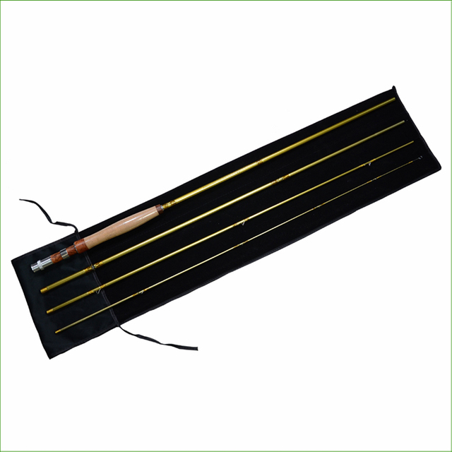 R8 Model Carbon Fiber Fast Action fly rod 6/7 WT The length 10FT With 4 Sections Mahogany Handle Fly Fishing Rod