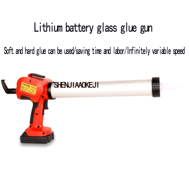 NEW Portable Electric silicone gun Professional lithium glass glue gun Rechargeable 18V lithium battery glue 1PC