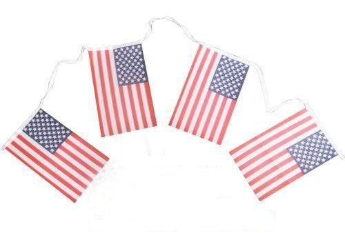 USA  bunting  flags with 30pcs  united state Pennant String Banner Buntings Festival Party Holiday