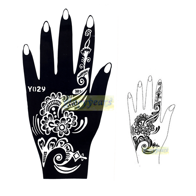 1pc New Beatuy Health Airbrush Paste Paper Indian Henna Flower Lace Temporary Tattoo Stencils Sexy Women Body Hands Art Kit Y029