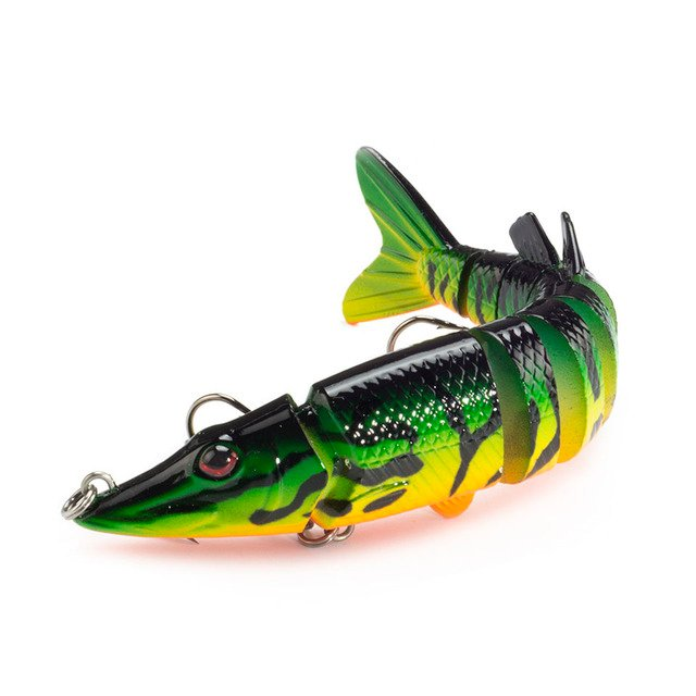 Fishing Lures Lifelike Crankbait Hard Bait 1pcs/lot Swimbait 12.5cm 19.7g Pike Lure 9-segement Isca Artificial Muskie