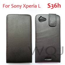 PU Leather Case For Sony Xperia L S36H C2105 C210X, Flip Holster Leather Pouch Cover Case,1pcs/lot+free shipping