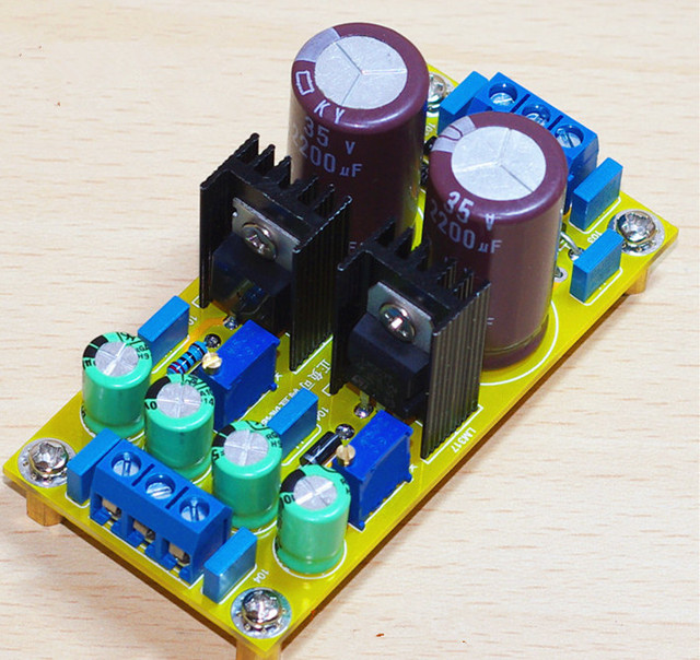 LM317 LM337 DC Adjustable Regulated Power Supply Module Board Positive and negative can adjustable