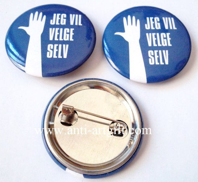Custom Promotional club of button badge Club printing your logo Hand button pin brooch EXW price cheap price