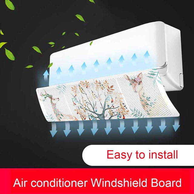 Fashion Hanging Air Conditioner Windshield Outlet Shutter Board Prevent Direct Blow Baffle Wind Shroud HY99 JY19