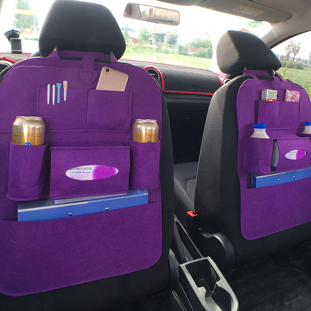 Auto Seat Bag Automobile Travel Anti-Kick Pad Universal Protector Children Mat Car Care Hanging Bag Multicolor Organizer