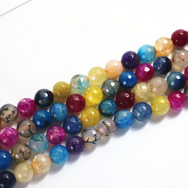 Natural multicolor agat stone carnelian onyx 6mm 8mm 10mm 12mm faceted round loose beads diy jewelry 15 inches A24