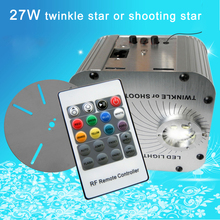 New! 27w,rgb shooting star,20key RF remote,led fiber engine/machine