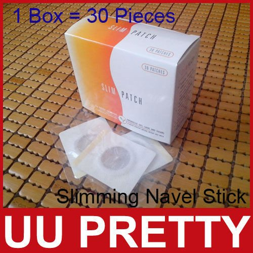Free Shipping Slimming Navel Stick Slim Patch Magnetic Weight Loss Burning Fat Patch 30Pieces/Box