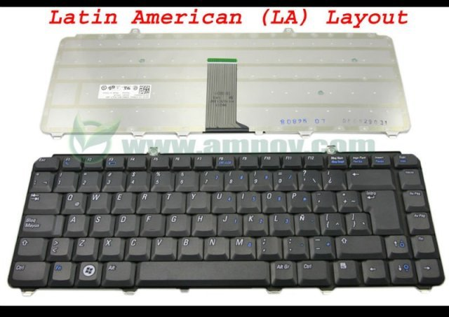 LA Laptop keyboard for Dell for inspiron 1400 1520 1521 1525 1526 1540 1545 1420 1500 XPS M1330 M1530 NK750 PP29L Black Latin