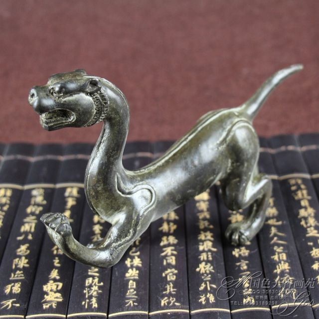 Collection Hand Carved Brass Dragon Ornaments statue