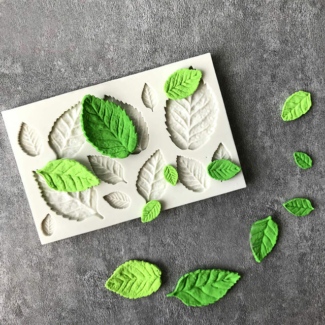 1 piece Leaf silicone mold Fondant mold Cake decorating tools Chocolate mold Baking tools for cake Mold for party jelly ice cube
