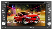 6201 6.2 inch Multi language menu 2 din Car dvd player Built-in GPS gift map 4G memory card bluetooth TV Rear Camera USB Charger