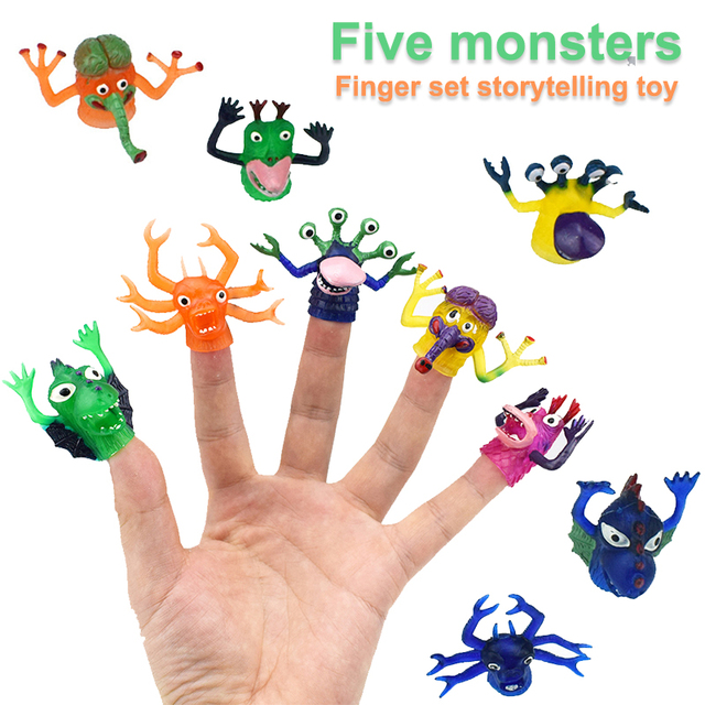 5pcs Toys for adults Funny toys for kids Fun Anti-stress toys Entertainment Party Plastic Plastic Puppet Prank Jokes Props Toy