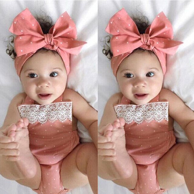 TELOTUNY newborn clothes Toddler Baby Girls Romper Jumpsuit Playsuit Infant Headband Clothes Outfits Set clothes for girls 1009