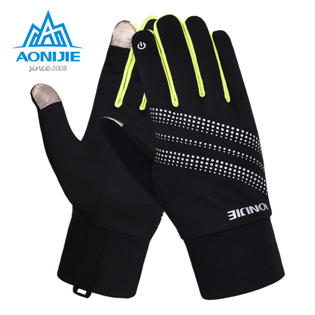 AONIJIE Outdoor Sports Cycling Hiking Climbing Running Gloves Warm Fitness Gloves Multi-function Windproof All Finger Gloves