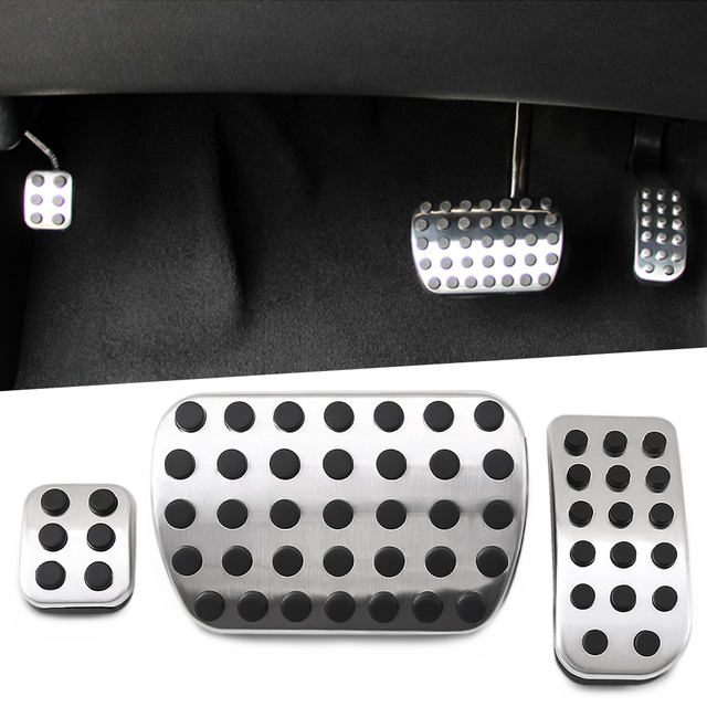 Stainless steel Car Pedal Pads Cover for Mercedes Benz V Class Vito Metris Viano W639 W447 Accessories Car Styling