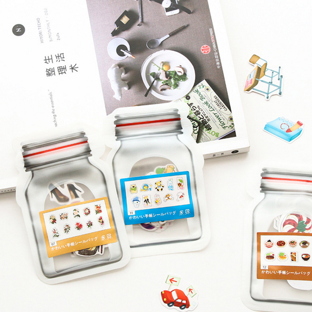 1 Pack Lovely Cartoon Korean Style Decorative Stickers Adhesive Stickers Scrapbooking DIY Decoration Diary Stickers