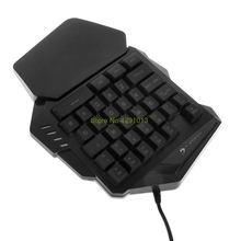 Gaming Keypad Mechanical One-hand Keyboard USB Waterproof Ergonomic Portabe IBM PC LED Light Drop Shipping Support