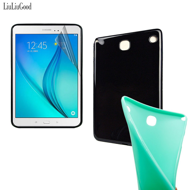 """Case For SAMSUNG Galaxy Tab A 8.0"""", Tab A 8.0 inch SM-T350 T350 TPU Back Case Cover + Clear Film + Pen"""