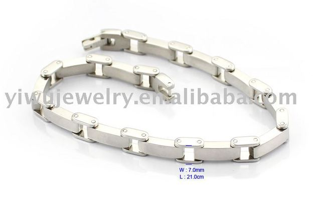 Free Shipping BC144 S.S316L Surgical Man Stainless Steel Jewelry Wide Link Bracelet
