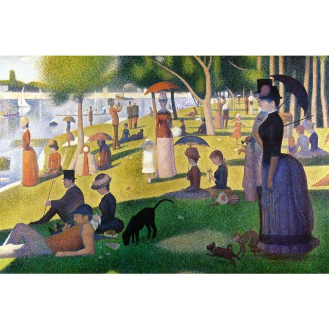 Canvas art Landscape oil painting Sunday Afternoon on the Island of La Grande Jatte by Georges Seurat Paintings handmade