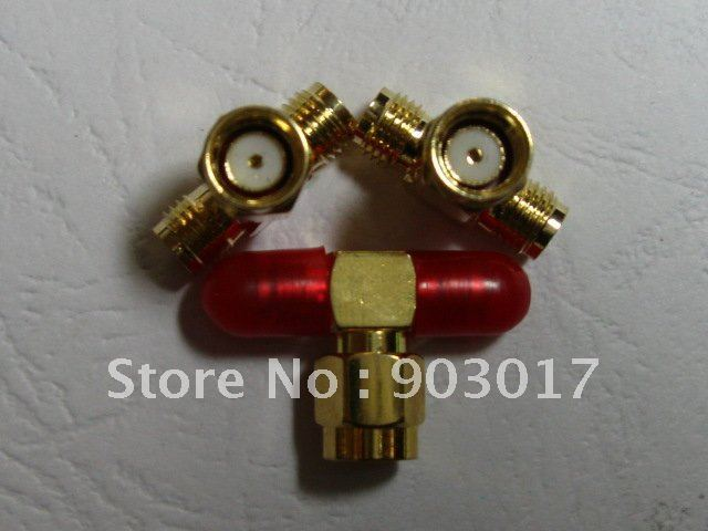 SMA RF Coaxial Connector T Type Dual Male to 1 Female 70 pcs per lot hot sale high quality