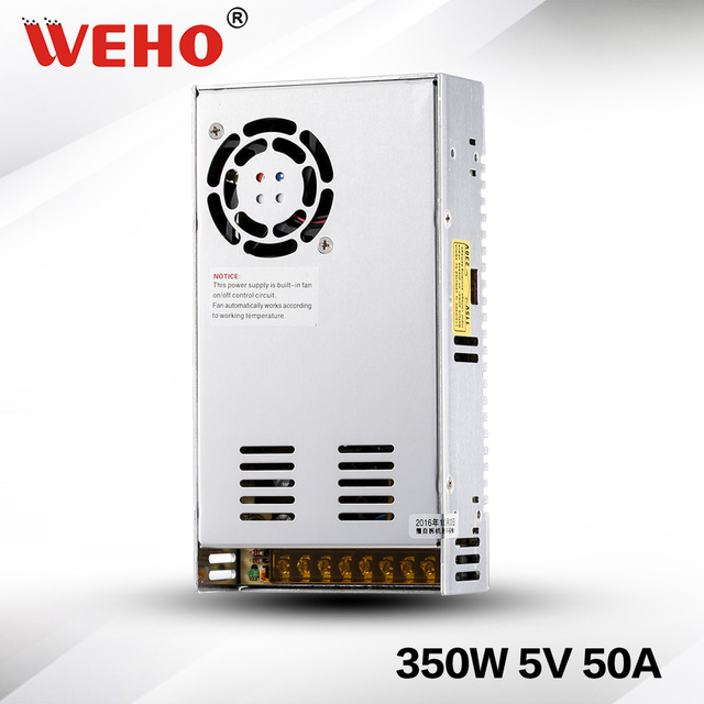 (S-350-5) Indoor style 350W 5V dc switching power supply led 5V 350W power supply