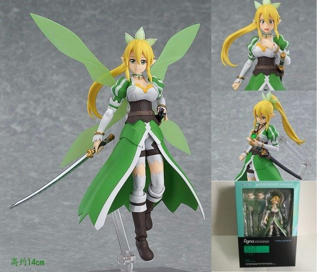 Boxed Figma 314 Sword Art Online II - Leafa ALO Ver. Figma PVC Action Figure Resin Collection Model Toy Gifts Cosplay