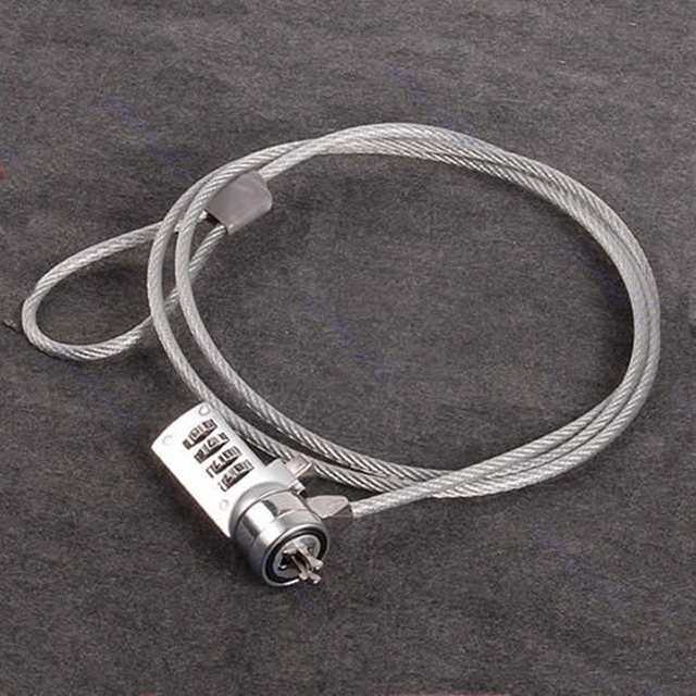 Lock 4 Digital Computer Thumb Roll Lock Security Password Anti-theft Chain For Laptop Notebook PC