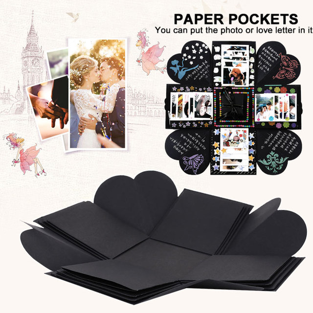 Paper Romantic Photo Box Explosion Gift Box for Wedding Valentine'S Day Surprise Box Photo Albums DIY for Love Dorpshipping