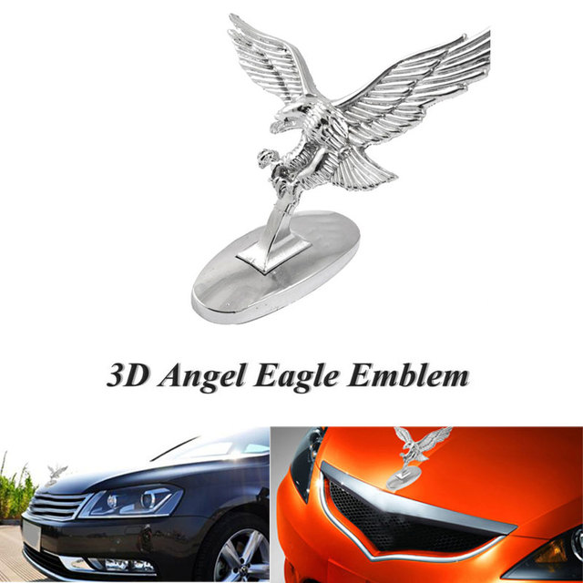 Car Decals Emblems Auto Truck Head Universal Car Styling Motorcycle Motorkap Cover Car Logo 3D Flying Eagle Metal Decoration