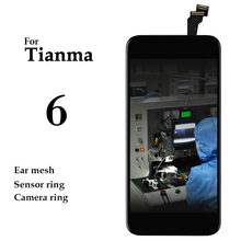 premium version 10pcs No Dead Pixel Pantalla For iPhone 6 LCD Display Tianma Touch Screen Panel Digitizer Assembly Replacement