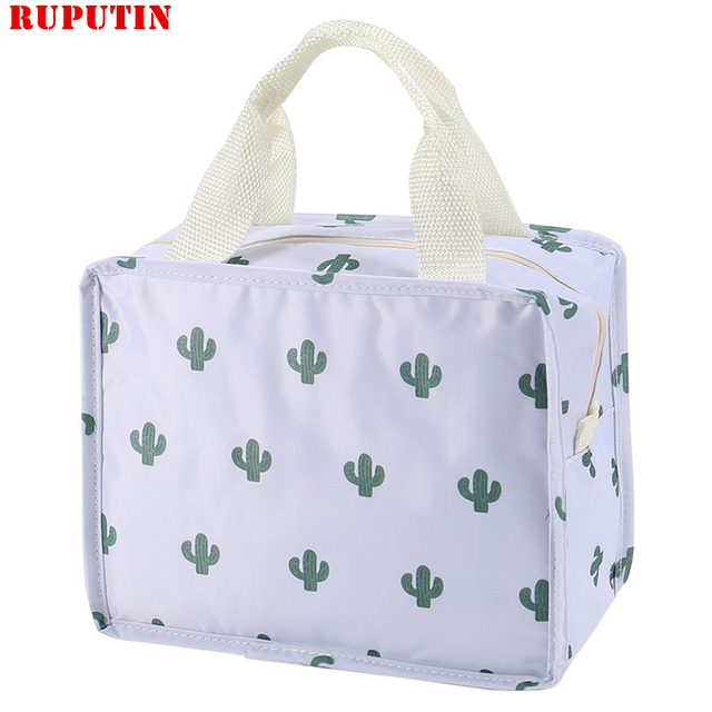 RUPUTIN New 1PC Fresh Insulation Cold Bales Thermal Oxford Lunch Bag Waterproof Convenient Leisure Bag Cute Flamingo Cuctas Tote