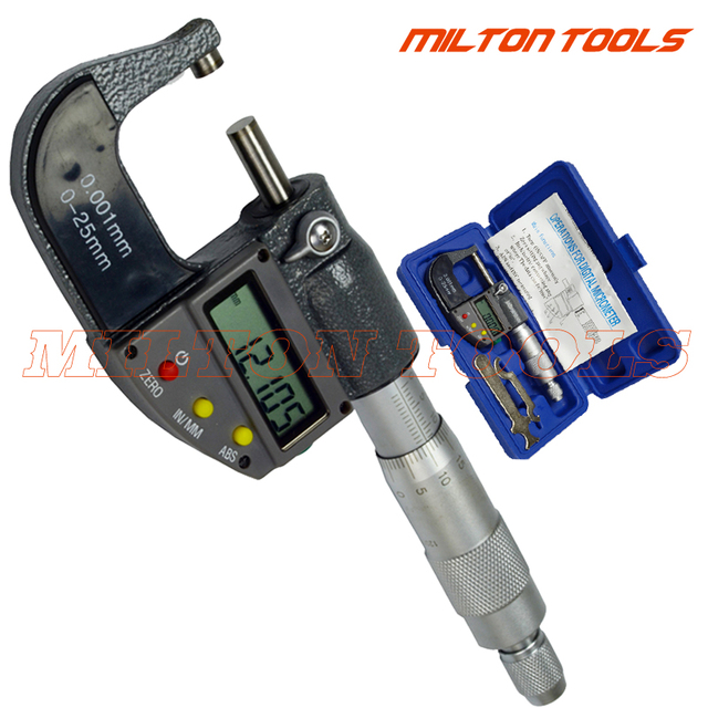 0-25mm 0-1 inch 0.001mm/0.00005'' Electronic Digital Micrometer outside micrometer caliper thickness gauge Measuring tool