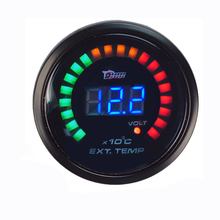 "Auto Car 2"" 52mm Digital Color Analog LED Tacho Tachometer Meter Racing Gauge Tachometer Gauge Auto Car Styling Free Shipping"