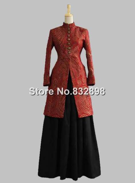 Victorian Edwardian Ladies Frock Custome Old West Jacket Reenactment Ball Gown Dress